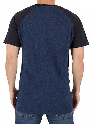 Superdry Eclipse Navy/BlueGrit Vintage Logo Raglan T-Shirt