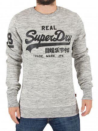 Superdry Side Walk Grey/Space Dye Vintage Logo Sweatshirt