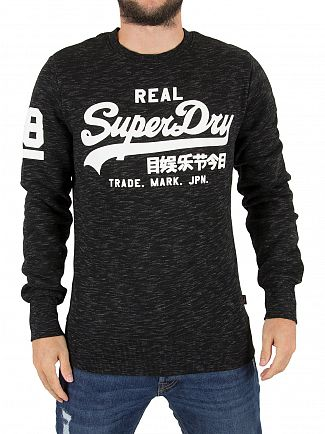 Superdry Smoked Space Dye Grit Vintage Logo Sweatshirt