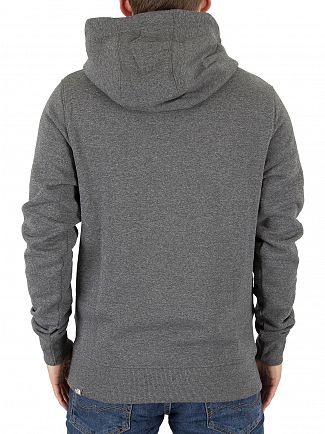 The North Face Grey Drew Peak Pullover Logo Hoodie