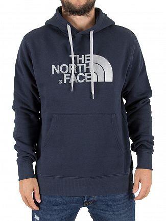 The North Face Navy Drew Peak Pullover Logo Hoodie