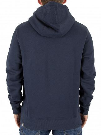 The North Face Navy Drew Peak Pullover Logo Hoodie