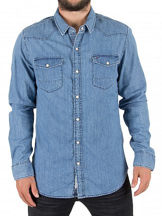 Tommy Hilfiger Denim Mid Indigo Denim Shirt