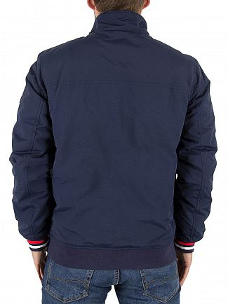 Tommy Hilfiger Denim Black Iris Padded Logo Bomber Jacket