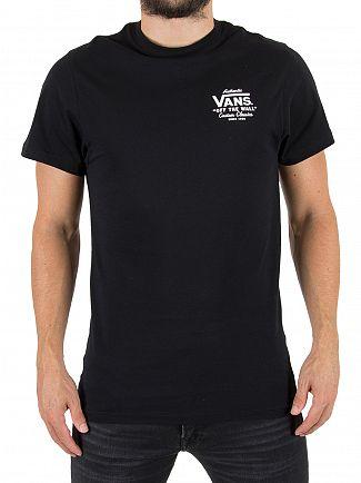 Vans Black Holder Street II Chest Logo T-Shirt