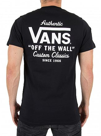 Vans Black Holder Street II Chest Logo T-Shirt