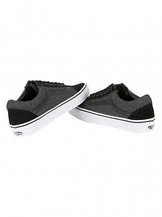 Vans Black Old Skool Suede & Suiting Trainers