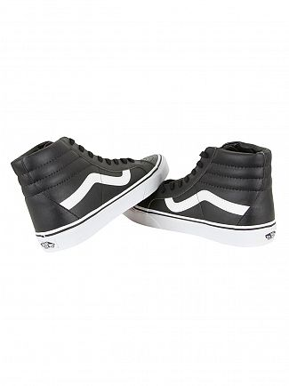 Vans Black/True White SK8-HI Reissue Classic Leather Trainers