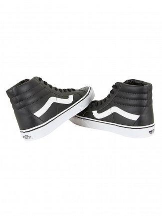 Vans Black/True White SK8-HI Reissue Classic Leather Trainers