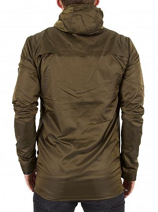 11 Degrees Shiny Khaki Hurricane Logo Jacket