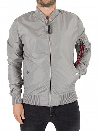 Alpha Industries Silver MA-1 TT Bomber Jacket