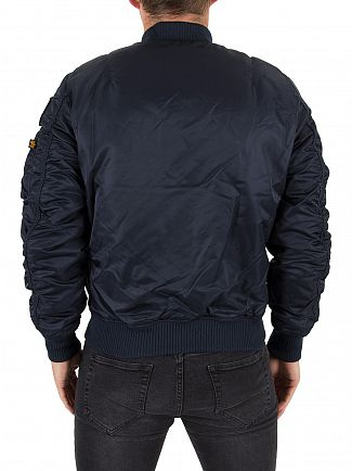 Alpha Industries Rep Blue MA-1 VF NASA Logo Bomber Jacket