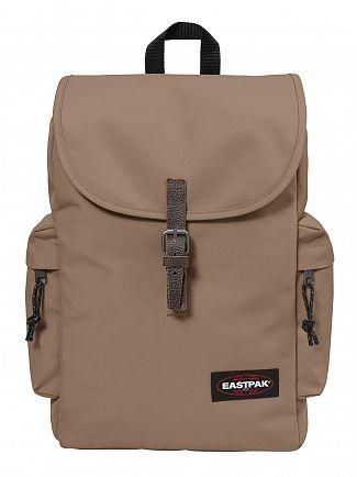 Eastpak Cream Beige Austin Logo Backpack