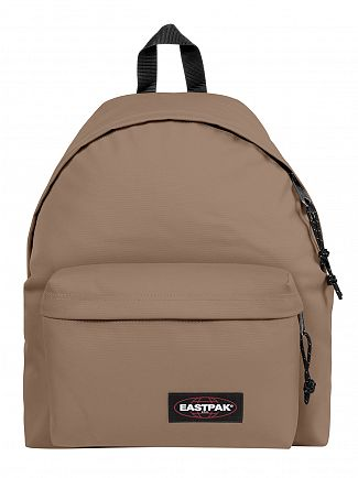 Eastpak Cream Beige Padded Pak'R Logo Backpack
