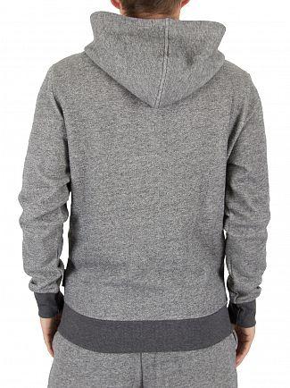 Emporio Armani Grey Marled Zip Logo Loungewear Hoodie