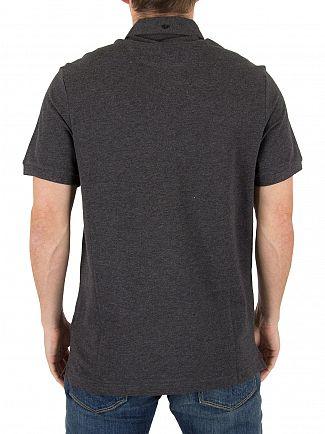 Farah Vintage Dark Asphalt Marl Merriweather Logo Polo Shirt