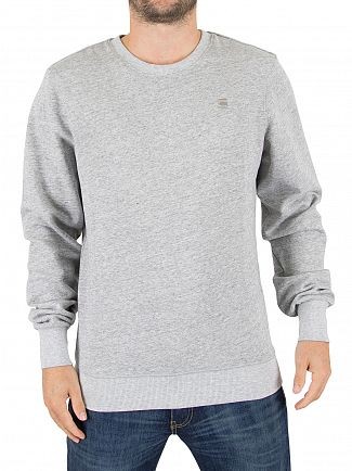 G-Star Correct Grey Heather Core Logo Sweatshirt