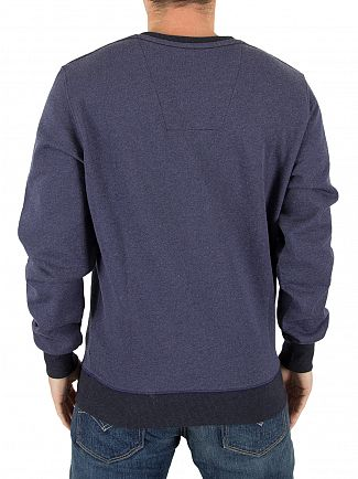 G-Star Sartho Blue Heather Core Logo Sweatshirt