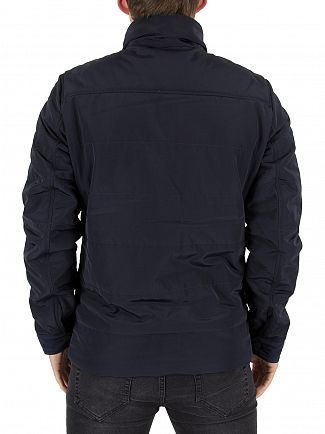 J Lindeberg Navy Bailey 76 Structured Poly Jacket