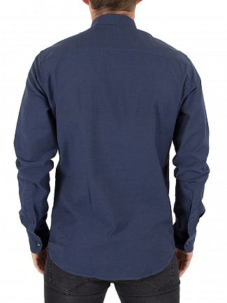 J Lindeberg Navy Daniel BD Stretch Oxford Shirt