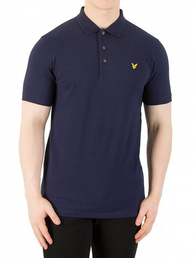 Lyle & Scott Navy Logo Polo Shirt