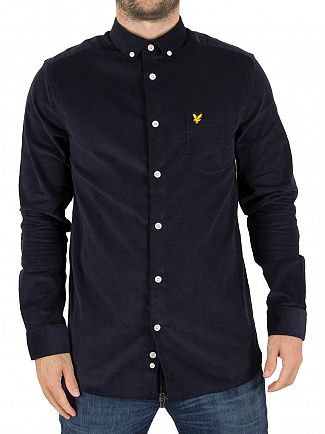 Lyle & Scott Navy Mini Cord Logo Shirt