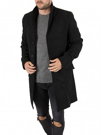 Only & Sons Black Julian Trench Coat