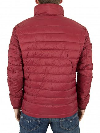 Superdry Wine Red SDX Fuji Triple Zip Logo Jacket