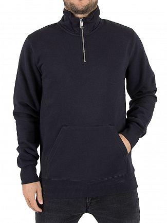 Carhartt WIP Dark Navy/Gold Chase Zip Sweatshirt