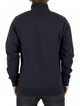 Carhartt WIP Dark Navy/Gold Chase Zip Sweatshirt