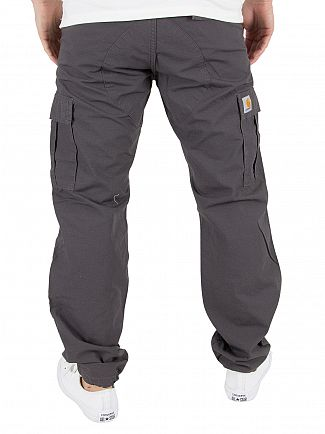 Carhartt WIP Blacksmith Rinsed Aviation Slim Logo Cargos