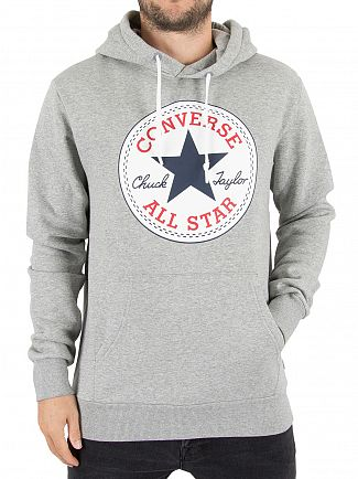 Converse Grey Heather Chuck Taylor Patch Pullover Hoodie
