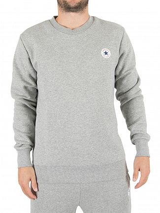 Converse Grey Heather Core Chest Logo Sweatshirt