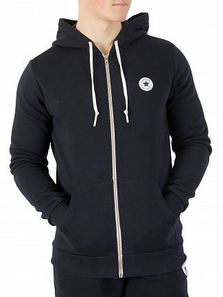 Converse Navy Core Chest Logo Zip Hoodie
