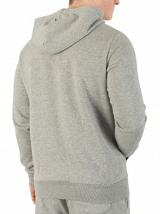 Converse Grey Heather Core Chest Logo Zip Hoodie