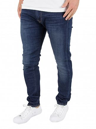 Edwin Night Blue Denim Ed-85 Slim Tapered Jeans