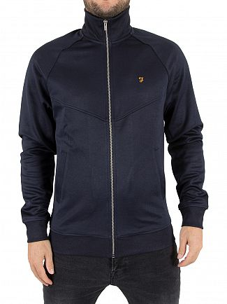 Farah Vintage True Navy Lancaster Zipped Logo Jacket