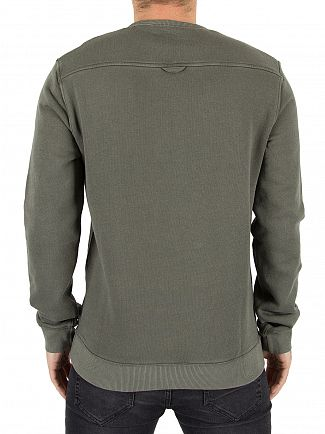 Farah Vintage Military Green Pickwell Logo Sweatshirt