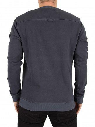 Farah Vintage Black Pickwell Logo Sweatshirt