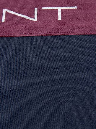 Gant Navy/Burgundy/Royal/Green 3 Pack Cotton Stretch Logo Trunks