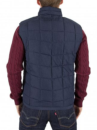 Gant Navy The Lightweight Cloud Logo Gilet