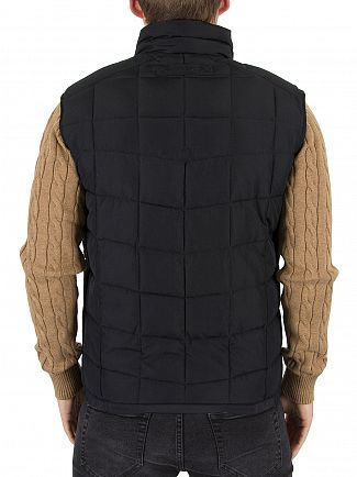 Gant Black The Lightweight Cloud Logo Gilet