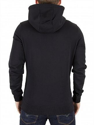 Lyle & Scott True Black 1/2 Zip Logo Hoodie