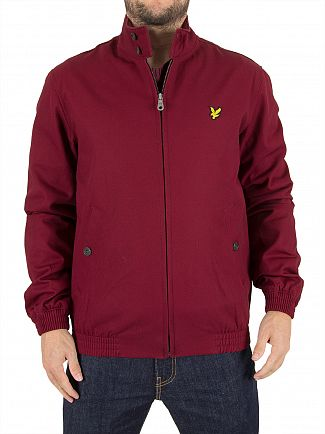 Lyle & Scott Claret Jug Harrington Logo Zip Jacket