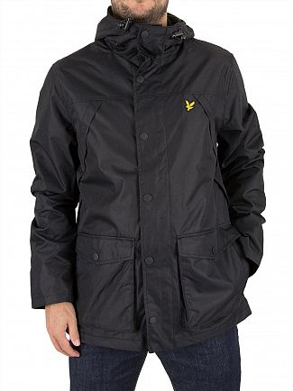 Lyle & Scott True Black Micro Fleece Lined Logo Jacket