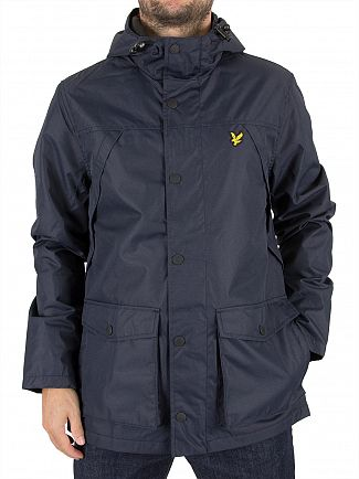 Lyle & Scott Navy Micro Fleece Lined Logo Jacket
