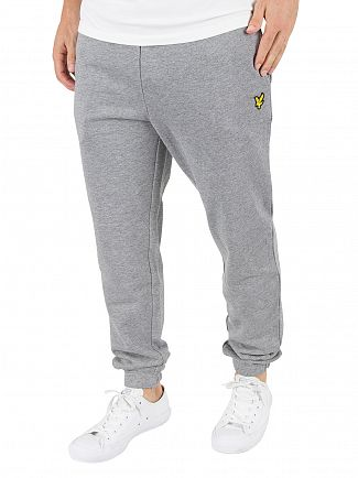Lyle & Scott Mid Grey Marl Slim Fit Logo Joggers