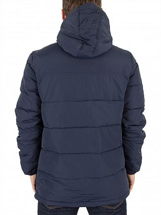 Lyle & Scott Navy Wadded Logo Puffa Jacket