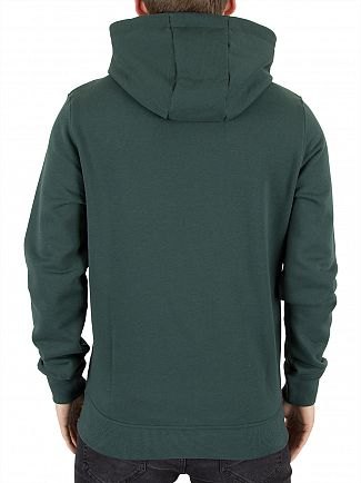 Lyle & Scott Forest Green Zip Through Logo Hoodie
