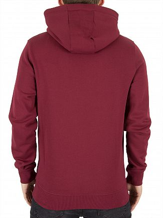 Lyle & Scott Claret Jug Zip Through Logo Hoodie